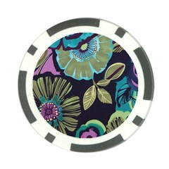 Dark Lila Flower Poker Chip Card Guard by Brittlevirginclothing