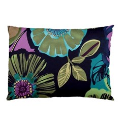 Dark Lila Flower Pillow Case by Brittlevirginclothing