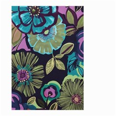 Dark Lila Flower Small Garden Flag (two Sides) by Brittlevirginclothing