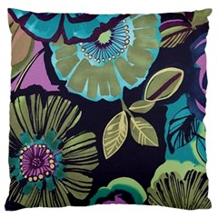 Dark Lila Flower Standard Flano Cushion Case (two Sides) by Brittlevirginclothing