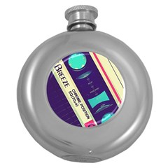 Vintage Casette Round Hip Flask (5 Oz) by Brittlevirginclothing