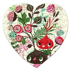 Cute Cartoon Jigsaw Puzzle (heart) by Brittlevirginclothing