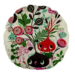 Cute Cartoon Large 18  Premium Round Cushions by Brittlevirginclothing