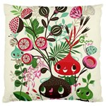 Cute cartoon Large Flano Cushion Case (Two Sides) Front