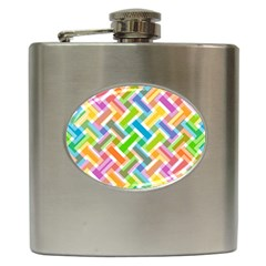 Abstract Pattern Colorful Wallpaper Hip Flask (6 Oz)