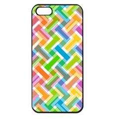 Abstract Pattern Colorful Wallpaper Apple Iphone 5 Seamless Case (black) by Amaryn4rt