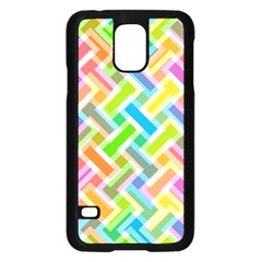 Abstract Pattern Colorful Wallpaper Samsung Galaxy S5 Case (black) by Amaryn4rt
