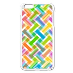 Abstract Pattern Colorful Wallpaper Apple Iphone 6 Plus/6s Plus Enamel White Case