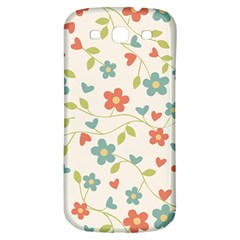 Abstract Vintage Flower Floral Pattern Samsung Galaxy S3 S Iii Classic Hardshell Back Case by Amaryn4rt