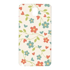 Abstract Vintage Flower Floral Pattern Samsung Galaxy Note 3 N9005 Hardshell Back Case by Amaryn4rt