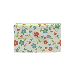 Abstract Vintage Flower Floral Pattern Cosmetic Bag (xs) by Amaryn4rt