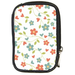 Abstract Vintage Flower Floral Pattern Compact Camera Cases by Amaryn4rt