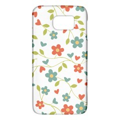 Abstract Vintage Flower Floral Pattern Galaxy S6 by Amaryn4rt