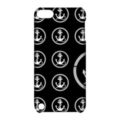 Anchor Pattern Apple Ipod Touch 5 Hardshell Case With Stand by Amaryn4rt