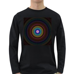 Artskop Kaleidoscope Pattern Ornamen Mantra Long Sleeve Dark T-shirts by Amaryn4rt