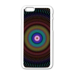 Artskop Kaleidoscope Pattern Ornamen Mantra Apple Iphone 6/6s White Enamel Case by Amaryn4rt