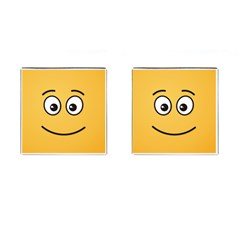 Smiling Face With Open Eyes Cufflinks (square) by sifis