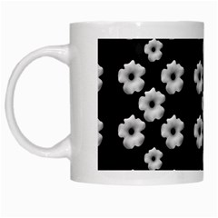 Dark Floral White Mugs by dflcprints