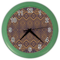Aztec Pattern Color Wall Clocks by Amaryn4rt