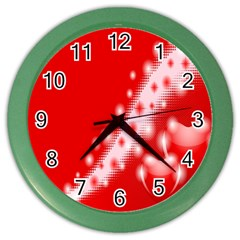 Background Banner Congratulation Color Wall Clocks by Amaryn4rt
