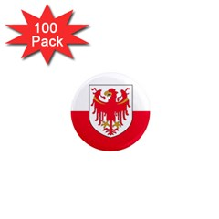 Flag Of South Tyrol 1  Mini Magnets (100 Pack)  by abbeyz71