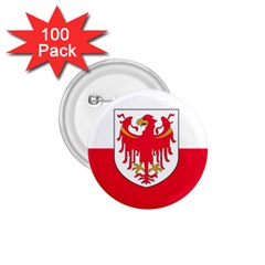 Flag Of South Tyrol 1 75  Buttons (100 Pack)  by abbeyz71