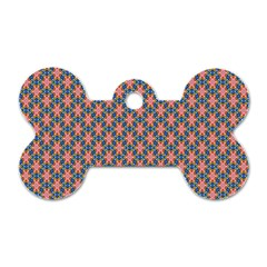 Background Pattern Texture Dog Tag Bone (one Side) by Amaryn4rt