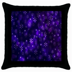 Bokeh Background Texture Stars Throw Pillow Case (black) by Amaryn4rt
