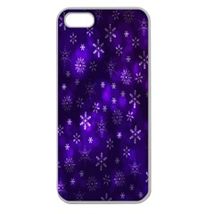 Bokeh Background Texture Stars Apple Seamless Iphone 5 Case (clear) by Amaryn4rt