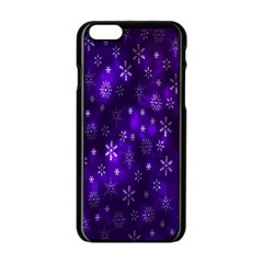 Bokeh Background Texture Stars Apple Iphone 6/6s Black Enamel Case by Amaryn4rt