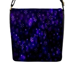 Bokeh Background Texture Stars Flap Messenger Bag (l)  by Amaryn4rt