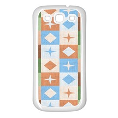 Fabric Textile Textures Cubes Samsung Galaxy S3 Back Case (white) by Amaryn4rt