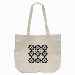 Floral Illustration Black And White Tote Bag (cream)