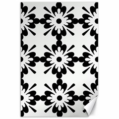 Floral Illustration Black And White Canvas 20  X 30