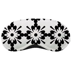 Floral Illustration Black And White Sleeping Masks