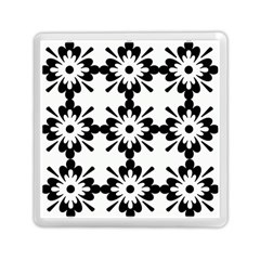 Floral Illustration Black And White Memory Card Reader (square)  by Amaryn4rt