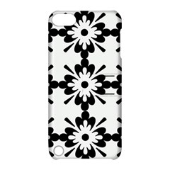 Floral Illustration Black And White Apple Ipod Touch 5 Hardshell Case With Stand by Amaryn4rt