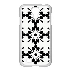 Floral Illustration Black And White Samsung Galaxy S4 I9500/ I9505 Case (white)