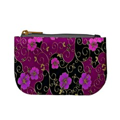 Floral Pattern Background Mini Coin Purses