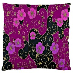 Floral Pattern Background Standard Flano Cushion Case (one Side) by Amaryn4rt