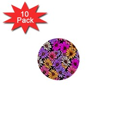 Floral Pattern 1  Mini Buttons (10 Pack)  by Amaryn4rt
