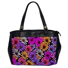 Floral Pattern Office Handbags by Amaryn4rt