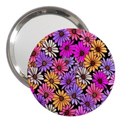 Floral Pattern 3  Handbag Mirrors by Amaryn4rt