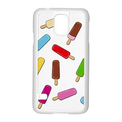 Ice Cream Pattern Samsung Galaxy S5 Case (white) by Valentinaart