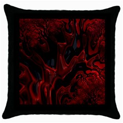 Fractal Red Black Glossy Pattern Decorative Throw Pillow Case (black) by Amaryn4rt