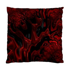 Fractal Red Black Glossy Pattern Decorative Standard Cushion Case (one Side) by Amaryn4rt