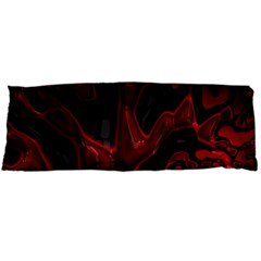 Fractal Red Black Glossy Pattern Decorative Body Pillow Case Dakimakura (two Sides)