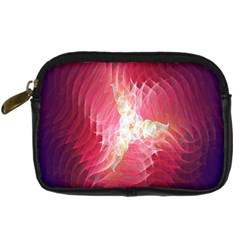 Fractal Red Sample Abstract Pattern Background Digital Camera Cases by Amaryn4rt