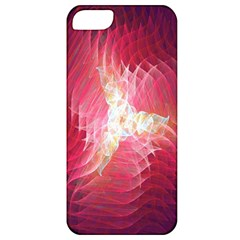Fractal Red Sample Abstract Pattern Background Apple Iphone 5 Classic Hardshell Case by Amaryn4rt