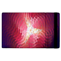 Fractal Red Sample Abstract Pattern Background Apple Ipad 3/4 Flip Case by Amaryn4rt
